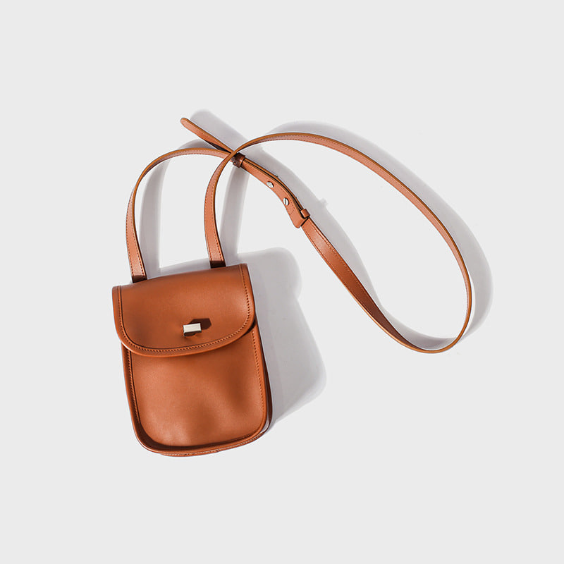 leather stroll bag(camel)