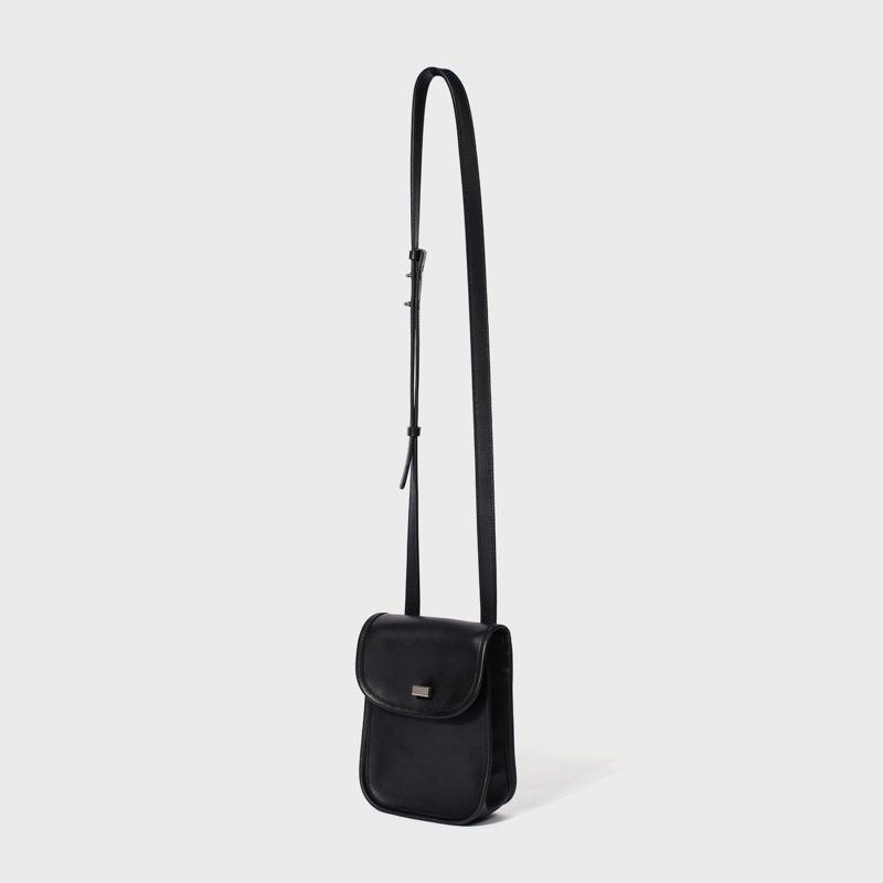 leather stroll bag(black)
